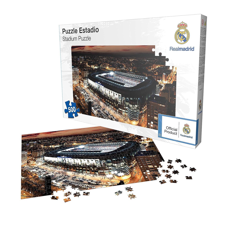 Puzle de 500 Piezas del Santiago Bernabéu - Real Madrid CF - Rompecabezas (Producto  Oficial Licenciado)  Amazon.es  Juguetes y juegos de83dd0ede918