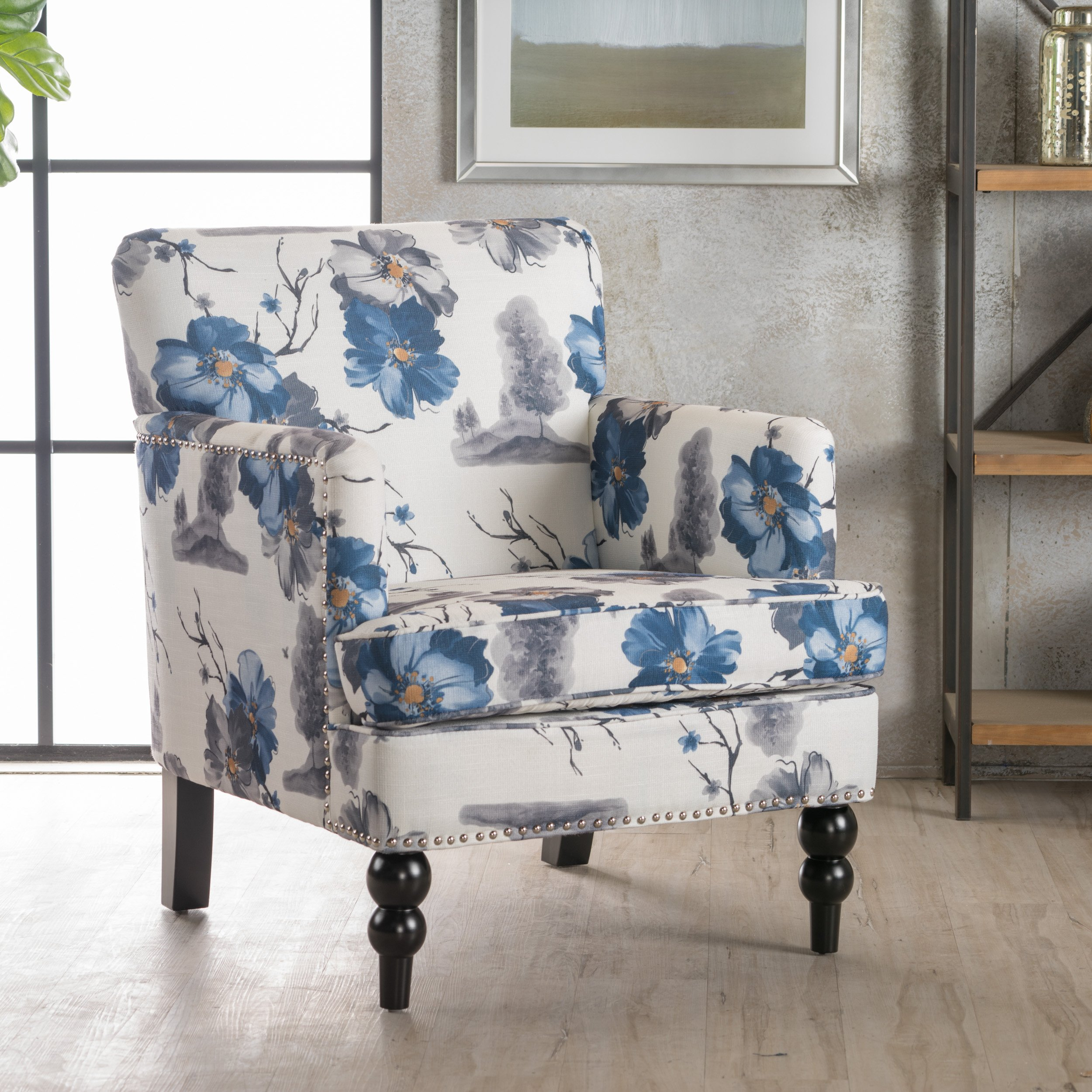 Christopher Knight Home 300439 Boaz Arm Chair, Floral Print by Christopher Knight Home