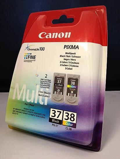 2 Originales Cartuchos de tinta para Canon Pixma MP 140 (Negro/Color): Amazon.es: Oficina y papelería