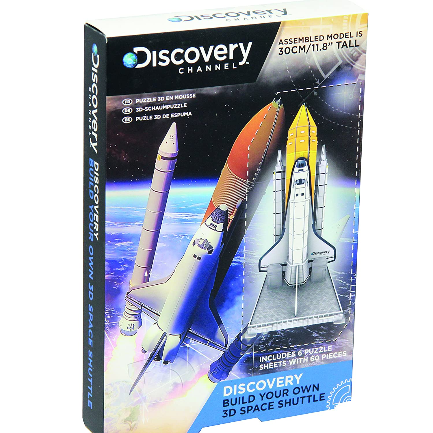 Paladone Discovery Channel Build Your Own 3D Space Shuttle Puzzle (Multi-Colour)