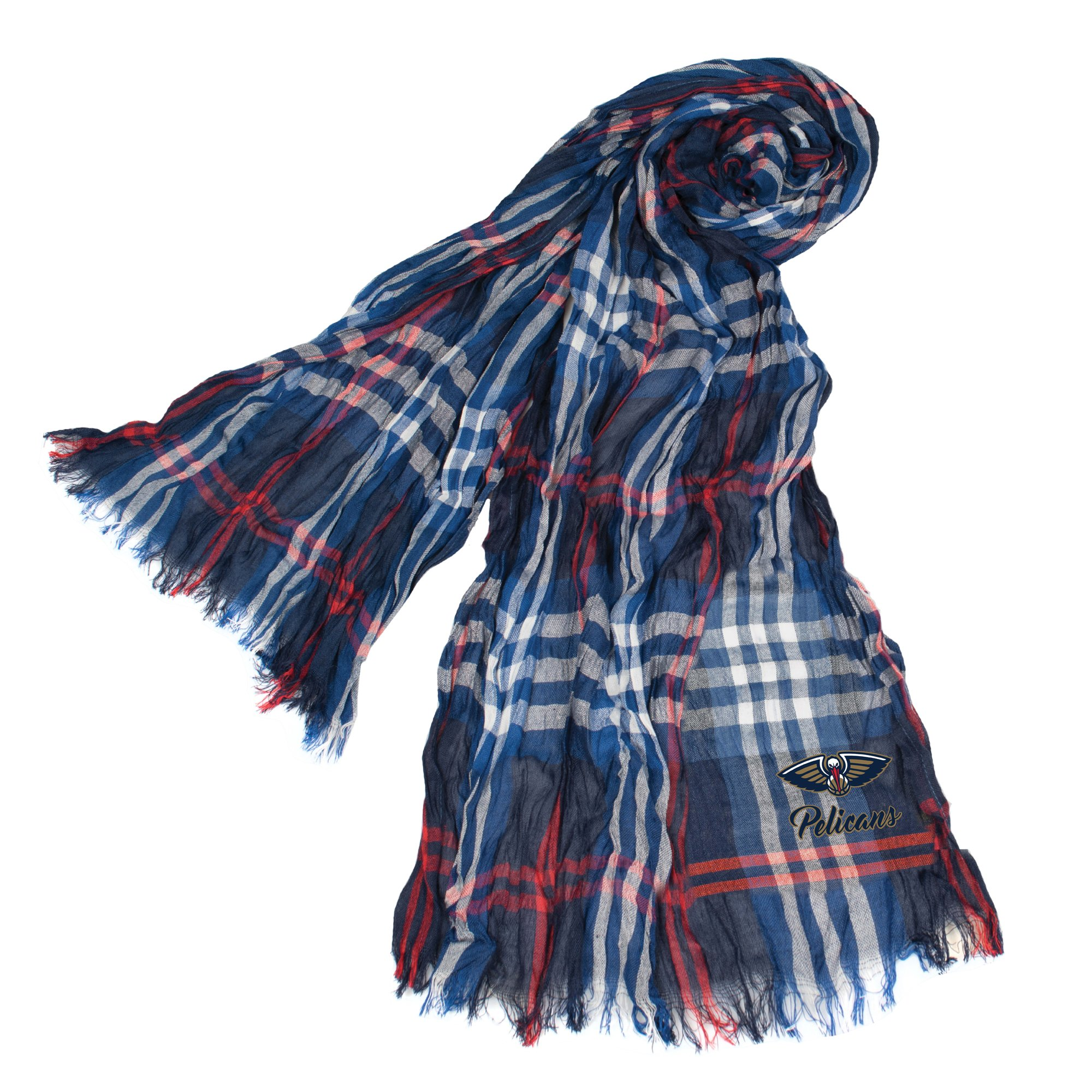 Littlearth NBA New Orleans Pelicans Plaid Crinkle Scarf