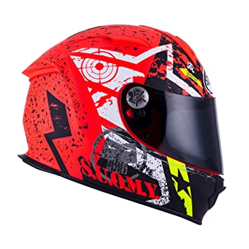 SUOMY SR Sport - Casco para Moto Integral, Multicolor (Stars Orange), L