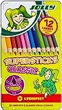 JOLLY 3000-0246 - Supersticks Classic, 12 Farben, Mine, Lernmaterialien, 3.8 mm…