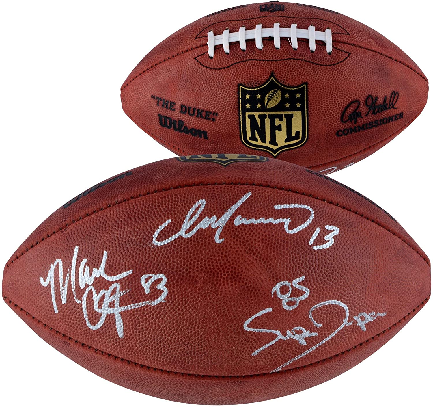 Dan Marino, Mark Clayton, Mark Duper Autographed Duke Pro Football - Fanatics Authentic Certified - Autographed Footballs