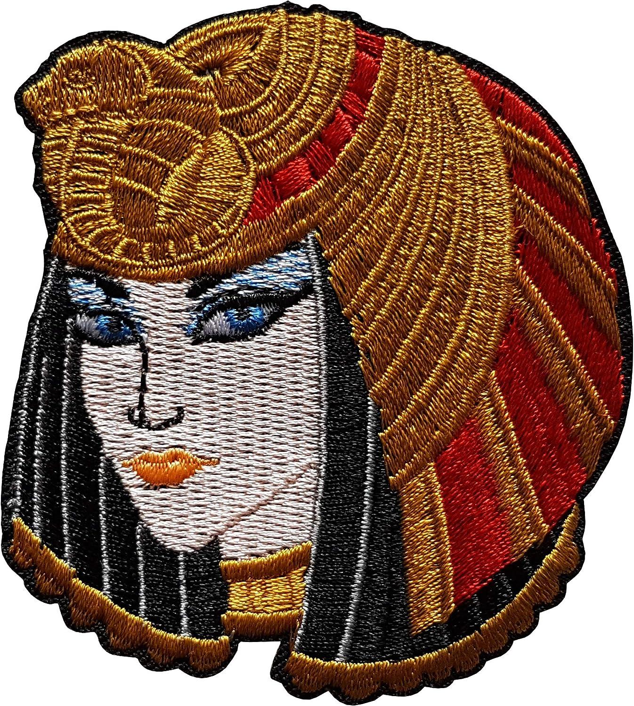 7,8x7cm Cl/éop/âtre Reine d/Égypte Antique Patch /Égyptien /Écusson Tissus Thermocollant Cameleon-Shop