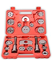 TRESKO® Reposicionador de pistones de freno para reposicionar el pistón de freno al cambiar los discos, las zapatas o las pastillas de freno, set de herramientas para vehículos, 21 piezas