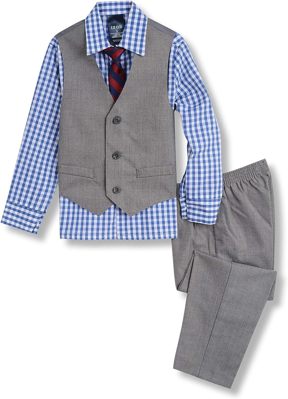 IZOD Boys' 4-Piece Formal Suit Vest Set