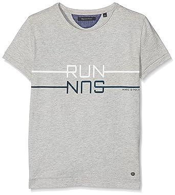 41ca9af41 Marc O Polo Boy s T-Shirt 1 4 Arm Grau (ash Gray Melange 8180)