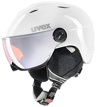 Uvex Junior Visor Pro - Casco infantil de esquí con visera, infantil, color