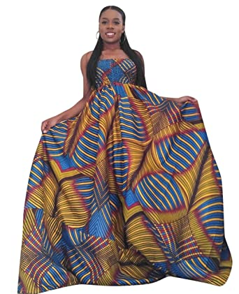 Sarah Women S Plus Size African Clothing Print Maxi Casual Dress S