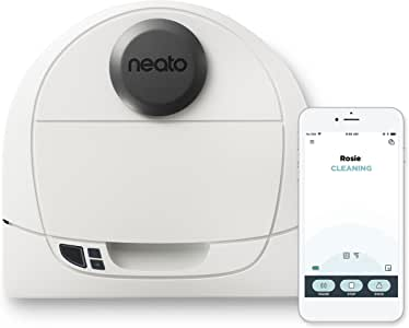 Neato Botvac D3 White Connected Laser Guided Robot Vacuum, Works with Smartphones, Alexa, Smartwatches