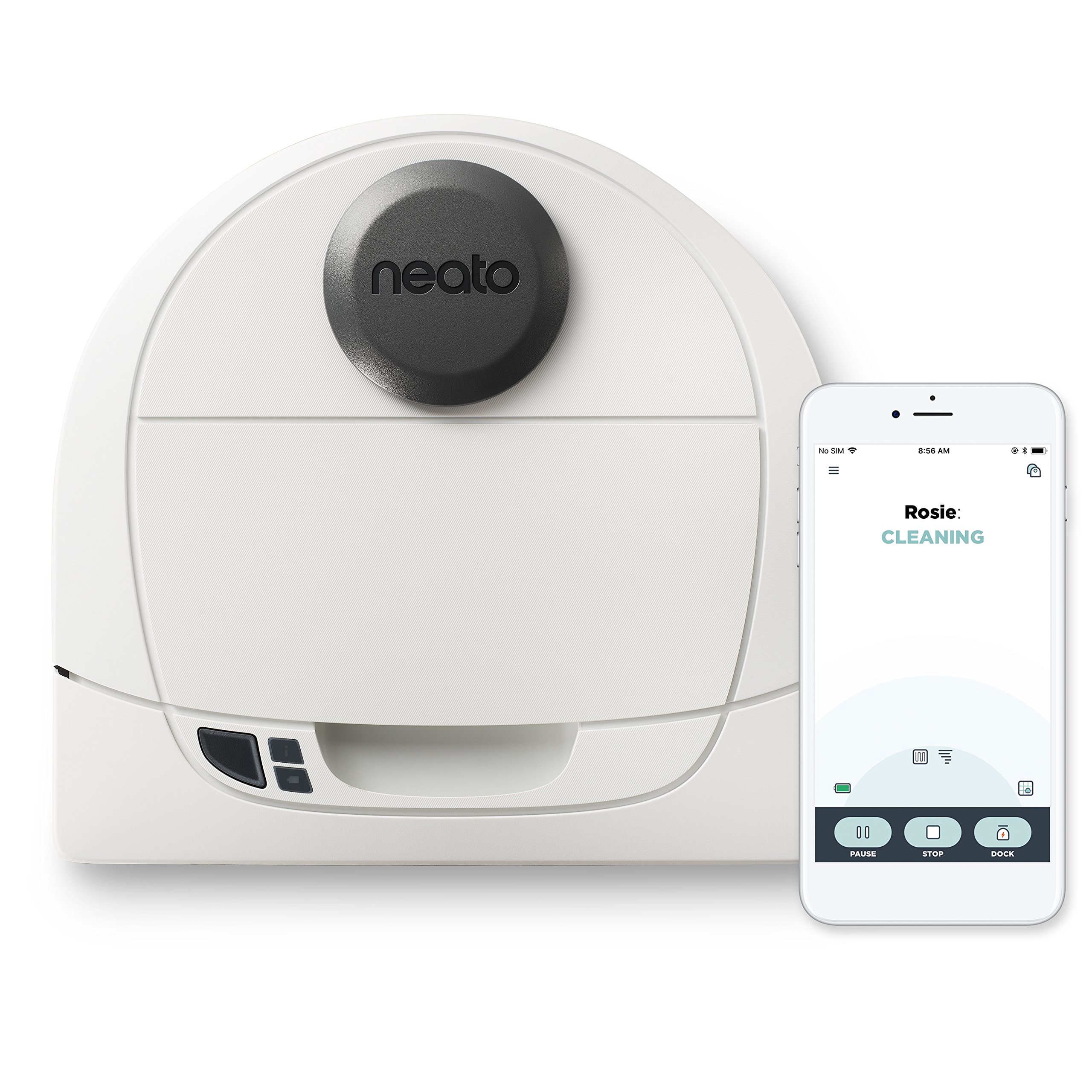 Neato Robotics Botvac D3 Wi-Fi Connected Laser Navigating Robot Vacuum, Compatible with Amazon Alexa, White by Neato Robotics