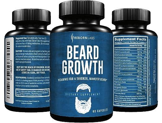 Beard Growth Supplement | Image via Amazon
