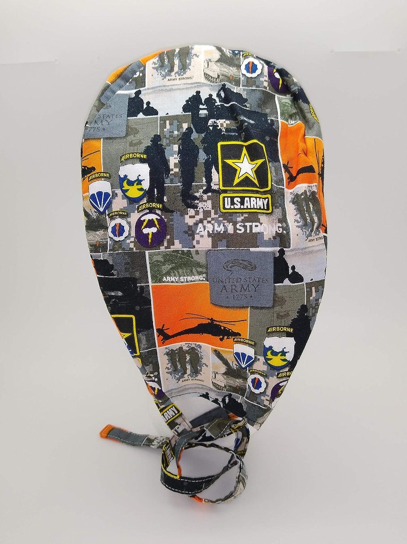 Amazon.com: Scrub Sombrero Militar Patriótica Tela de ...