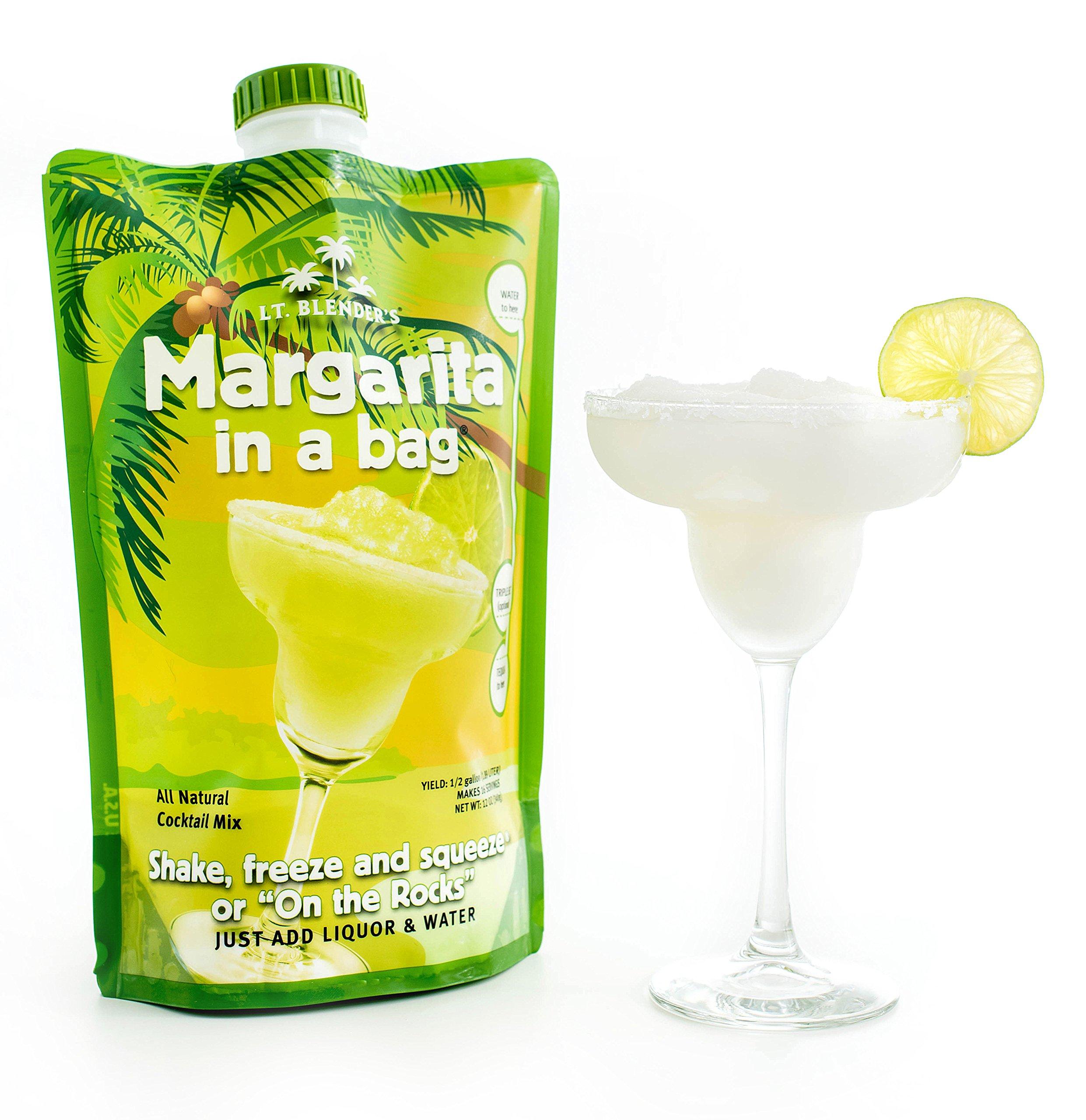 Lt. Blender's Margarita in a Bag, 12-Ounce Pouches (Pack of 3) by Lt. Blender's