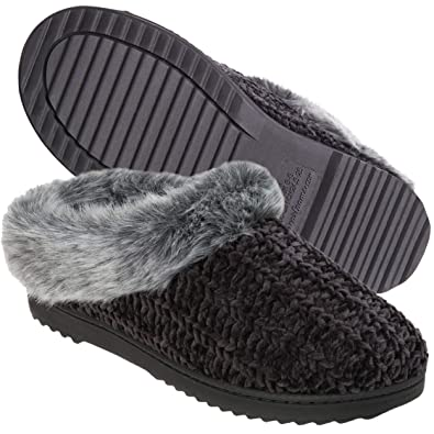 ec96f5f87 Amazon.com | Dearfoams Women's Chenille Clog Slipper | Slippers