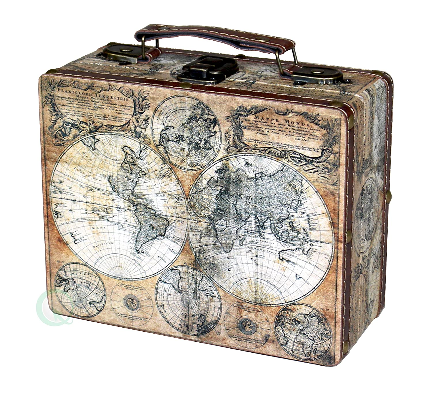 Amazon vintiquewisetm old world map suitcase clock small amazon vintiquewisetm old world map suitcase clock small home kitchen gumiabroncs Choice Image