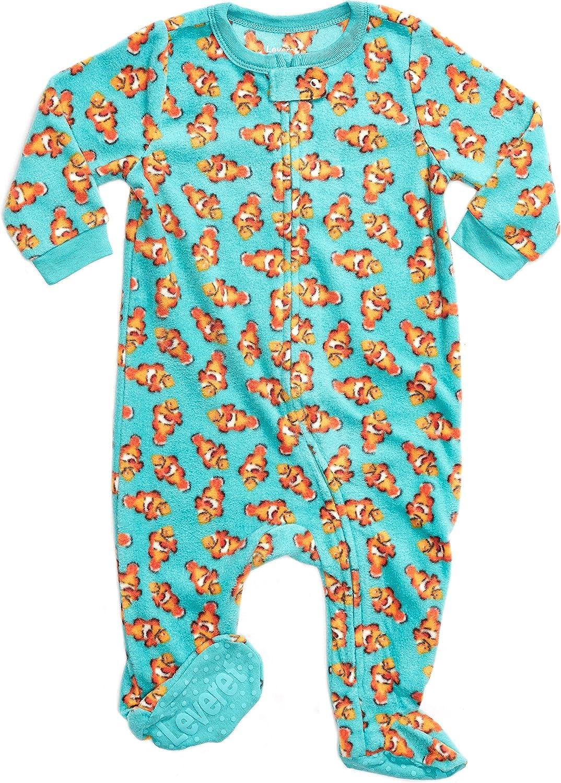 3 Months-5 Toddler Leveret Fleece Baby Boys Footed Pajamas Sleeper Kids /& Toddler Pajamas