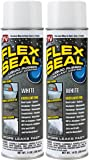 Flex Seal Spray Rubber Sealant Coating, 14-oz, White (2 Pack)