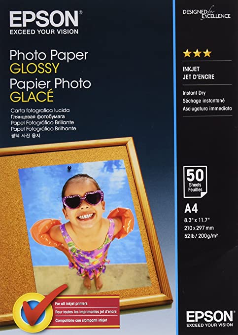 Epson Photo Paper Glossy A4 - Papel fotográfico brillante, 50 ...