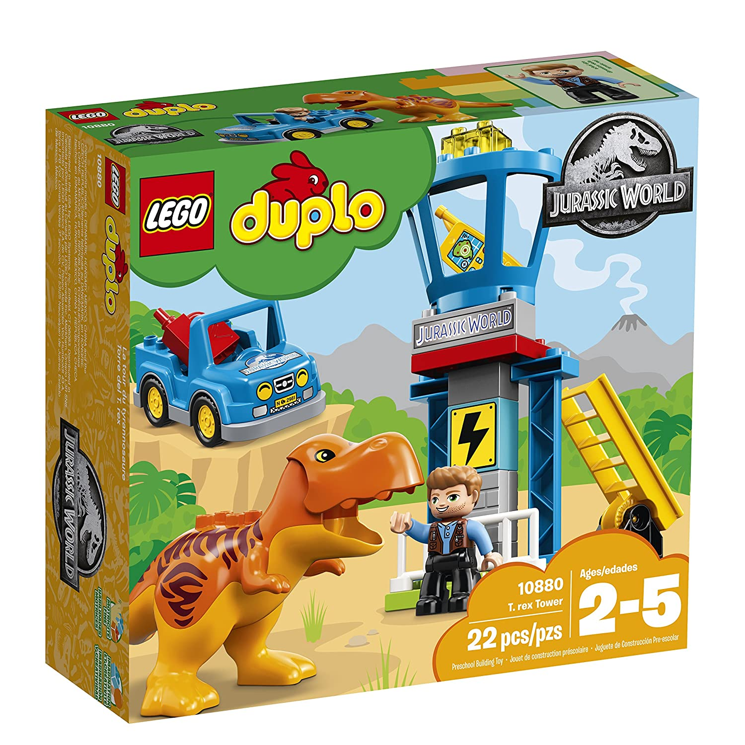 rex Tower 10880 Building Kit 22 pieces LEGO DUPLO Jurassic World T