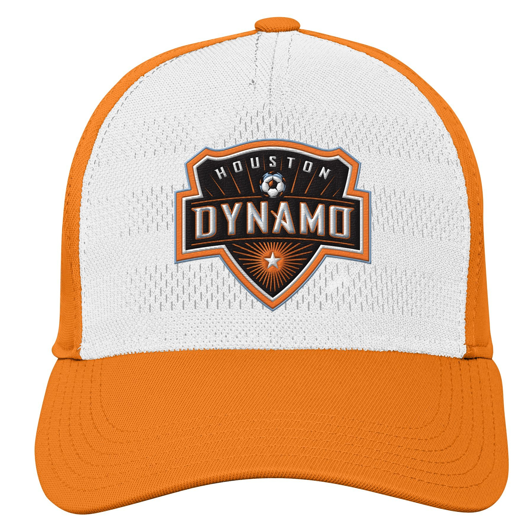 MLS Houston Dynamo Youth Boys Authentic Structured Flex, 1 Size, Bright Orange