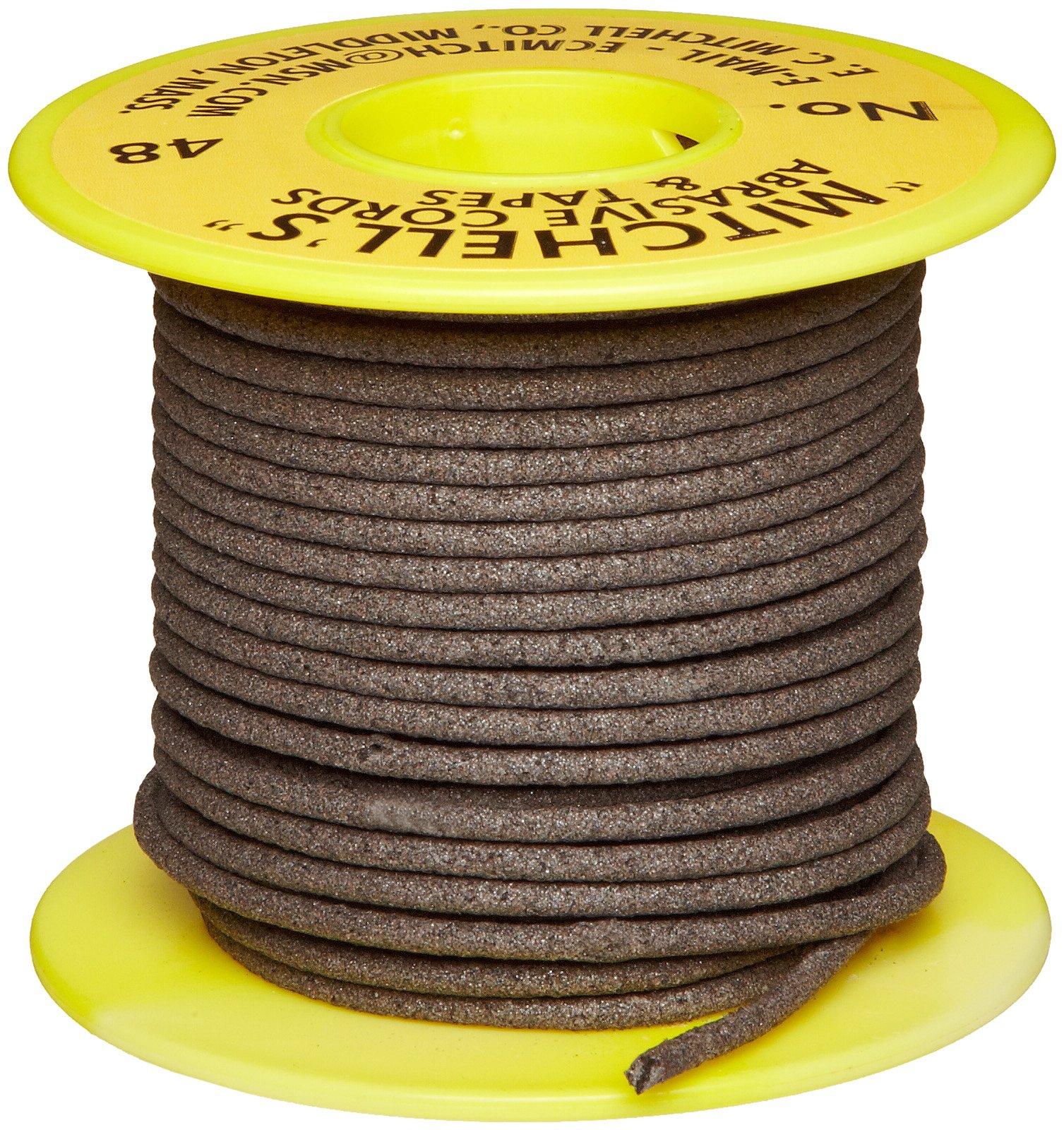Mitchell Abrasives 48 Round Abrasive Cord, Aluminum Oxide 150 Grit .093'' Diameter x 50 Feet by Mitchell Abrasives