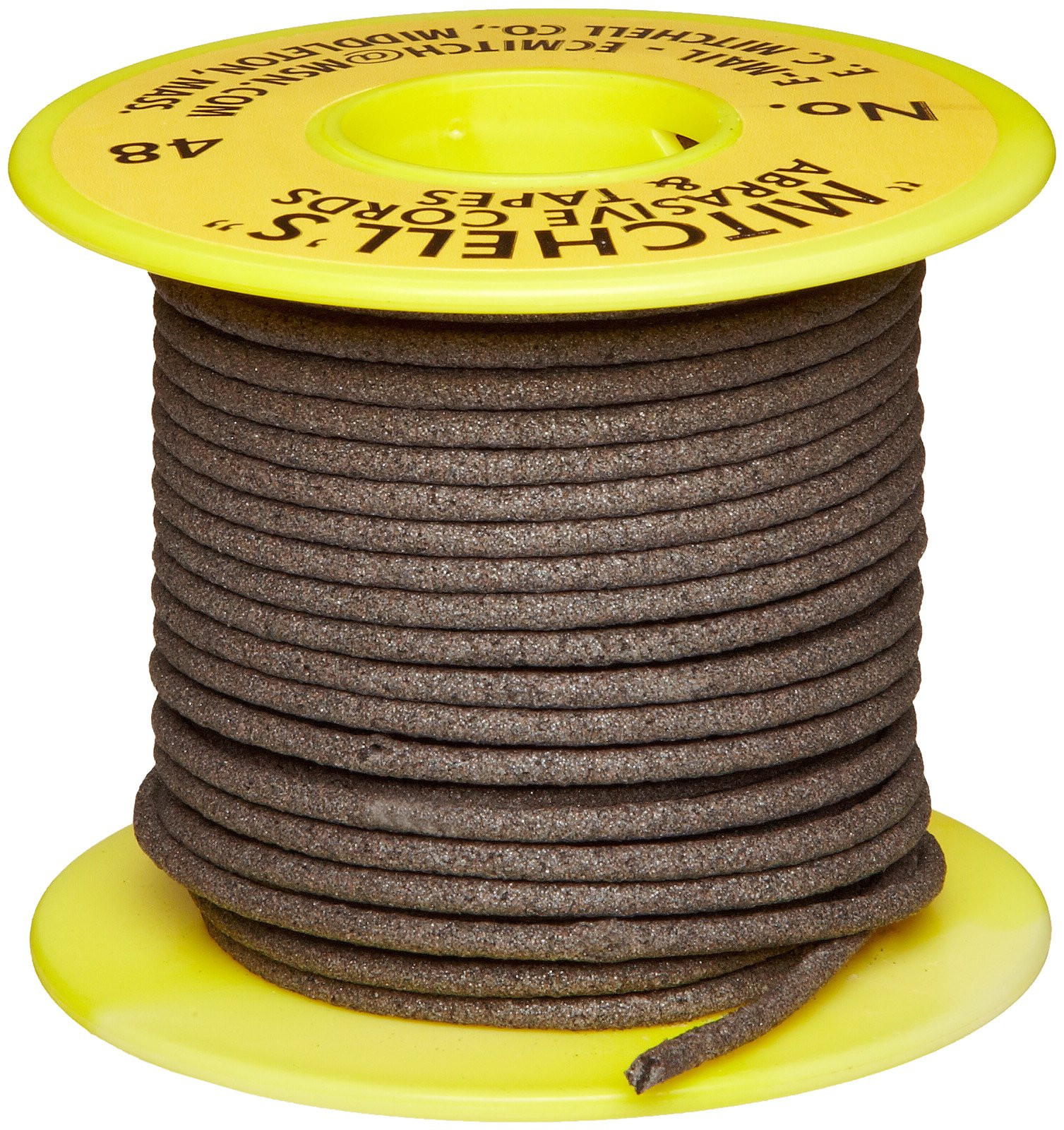 Mitchell Abrasives 48 Round Abrasive Cord, Aluminum Oxide 150 Grit .093'' Diameter x 50 Feet
