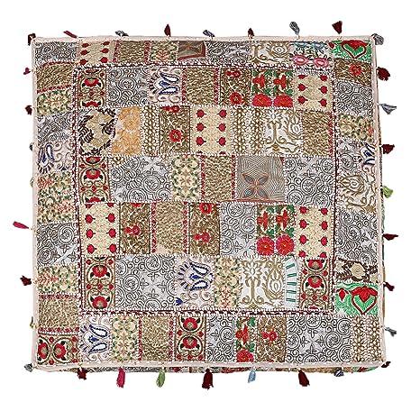 The Art Box - Funda de cojín Cuadrado Indio para el Suelo ...