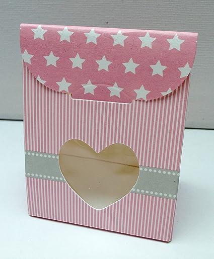 Amazon.com: 20 Regalo favor cajas rosa bebe niña bautizo de ...