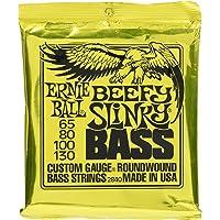 Ernie Ball P02840 Beefy Slinky Nickel Wound Electric Bass Strings- 65-130 Gauge, Heavy, 4-String