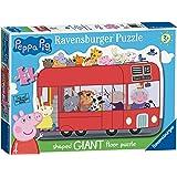 Ravensburger Peppa Pig London Bus, 24pc Giant Shaped Floor Jigsaw Puzzle