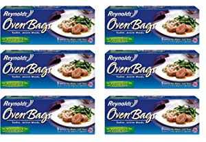 Reynolds 010900005319 B Oven Cooking Large Size for Meats & Poultry (up to 8-Pounds), 5 Count Boxes (Pack of 6) 30 Bags Total
