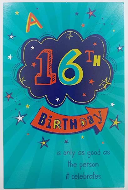Amazon A 16th Birthday Greeting Card Sixteen 16 Years Old
