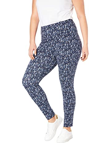 180fd72b997e5 Woman Within Women's Plus Size Petite Stretch Cotton Printed Legging
