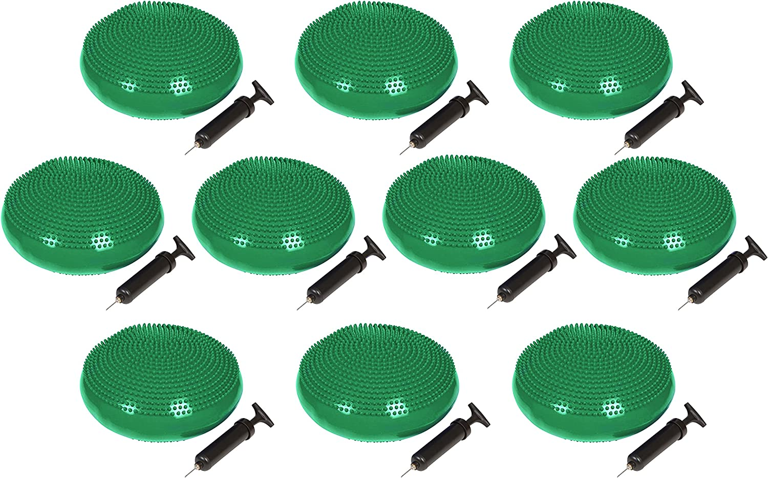 Trademark Innovations 13 Diameter Fitness and Balance Disc Seat Set of 10