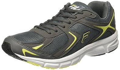 47c3b4fe53d2 Fila Men s Force Lite Dark Grey and Yellow Running Shoes - 7 UK India (