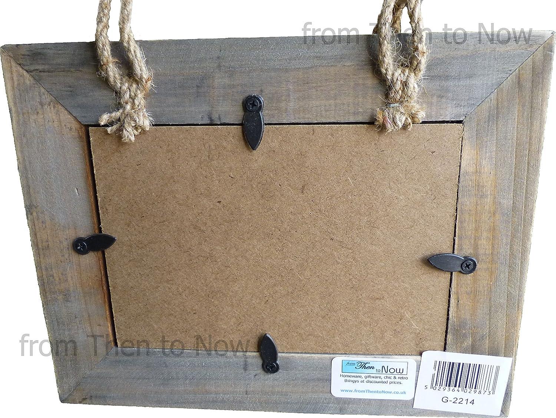 Portarretratos colgante compuesto por 5 marcos de madera para ...