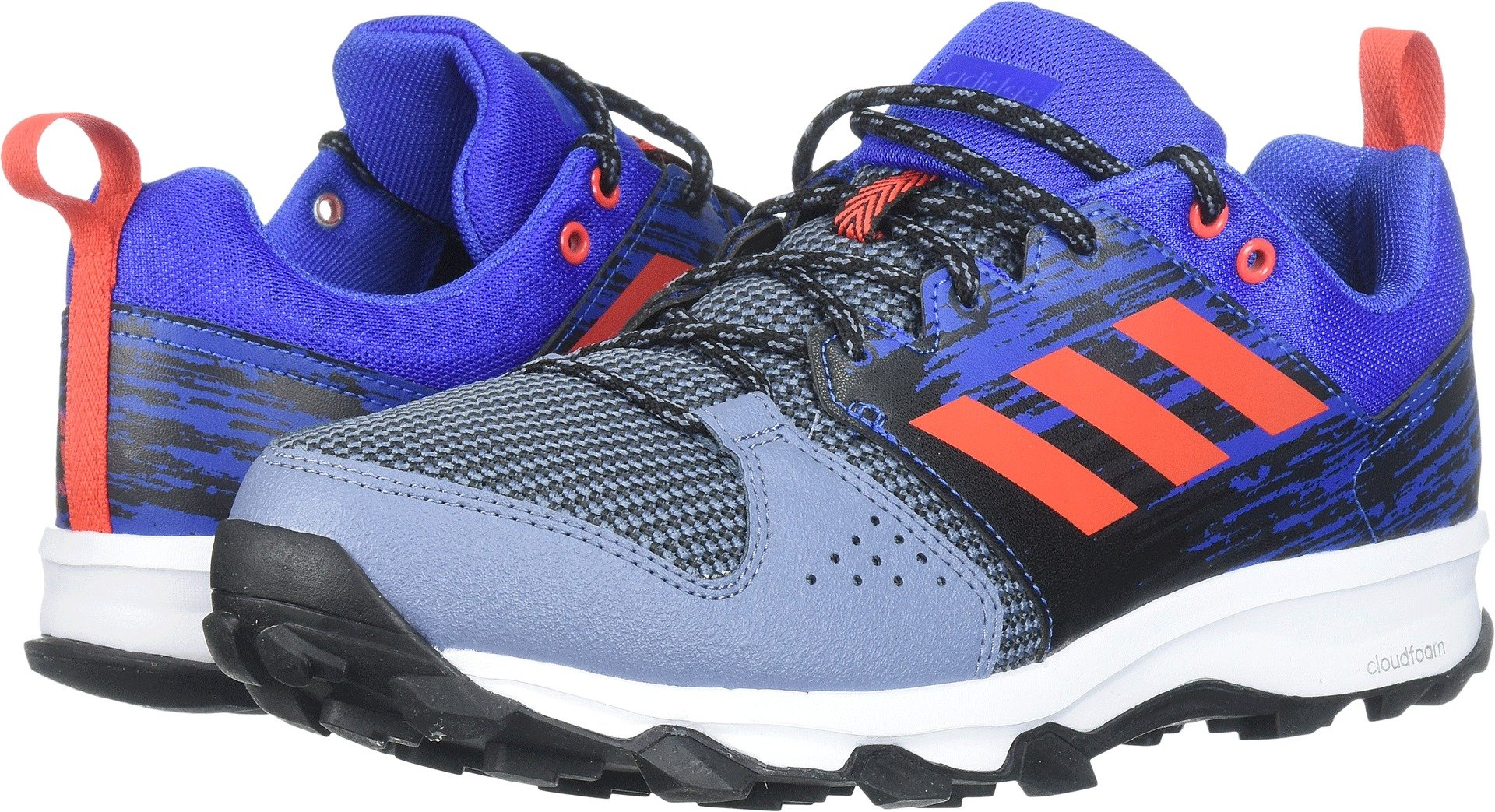 adidas Men's Galaxy Trail m Running Shoe, Raw Steel/Hi-Res Red/Hi-Res Blue, 11 M US
