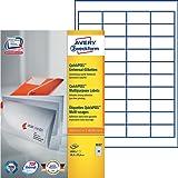 Avery Zweckform 3657 Universal-Etiketten (A4, Papier matt, 4,000 Etiketten, 48,5 x 25,4 mm) 100 Blatt weiß
