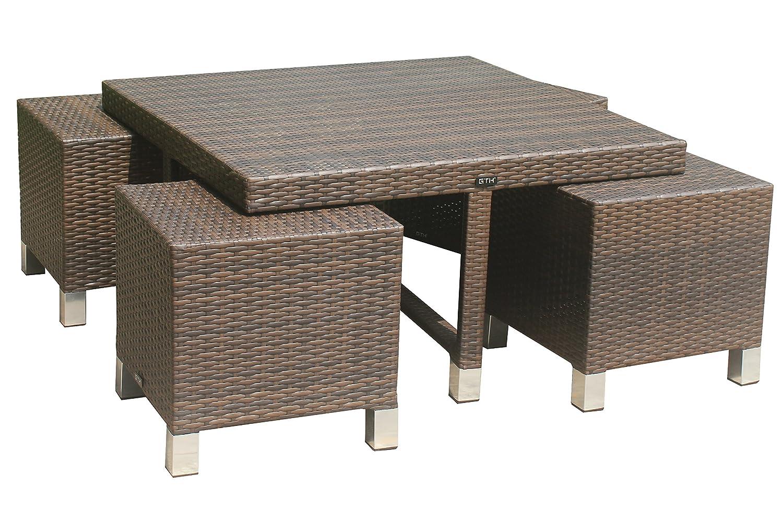 GTH Tisch-Set Valensole, braun