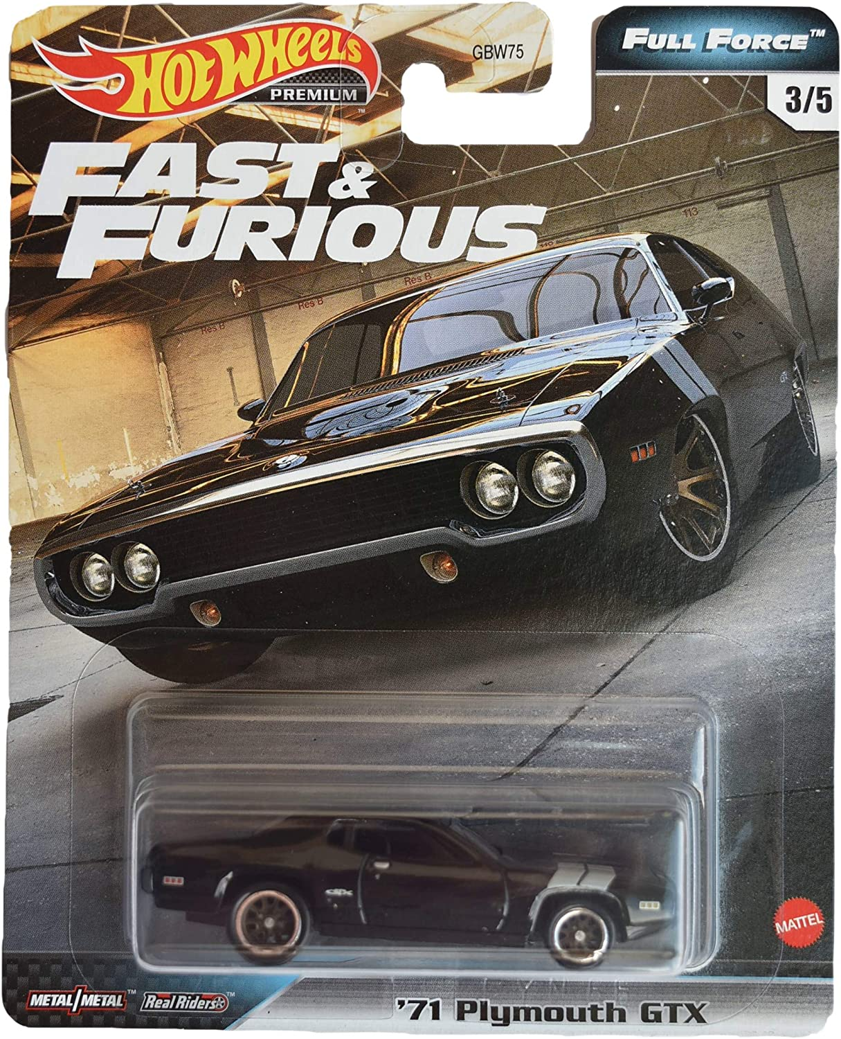 Hot Wheels Plymouth GTX 1971 Fast And Furious Voll Force GBW75-956H 1//64