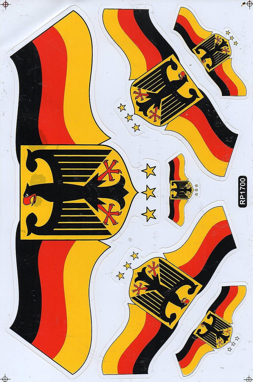 Dd Flagge Deutschland Bundesadler Sticker Aufkleber Folie 1 Blatt 270 Mm X 180 Mm Wetterfest Auto
