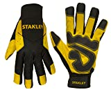 Stanley Work Gloves with Synthetic Leather Comfort