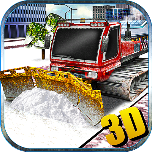 Snow Plow Truck Driver Winter Simulator 3D: Heavy Snow Excavator Crane Real Truck Adventure Mission Free For Kids 2018 ()