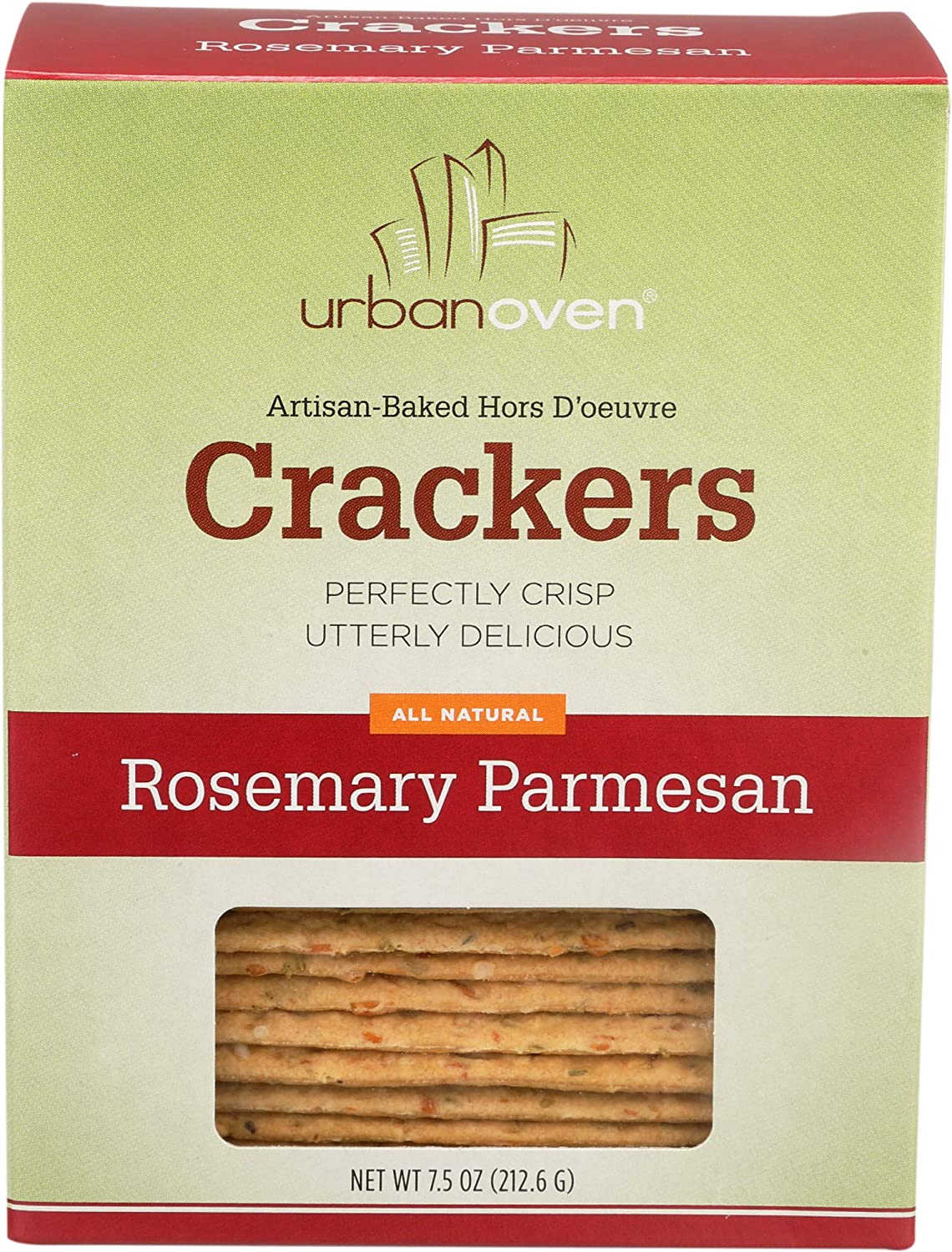 Urban Oven, Rosemary Parmesan Crackers (6 pack)
