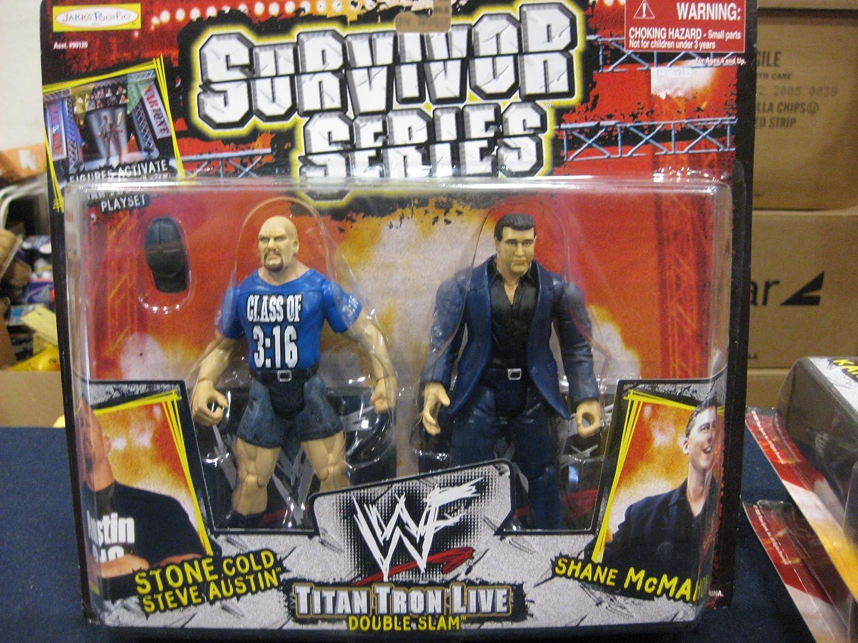 WWF Survivor Series Titon Tron Live Double Slam Stone Cold Steve Austin/Shane McMahon by Jakks Pacific 1999
