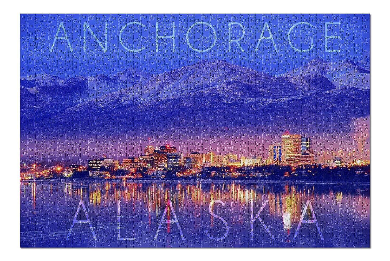 品質が アンカレッジ B076PXG522、アラスカ – 都市景観と山at Night ( ( Night 20 x 30プレミアム1000ピースジグソーパズル、アメリカ製。 ) B076PXG522, 【上品】:f6cab957 --- a0267596.xsph.ru