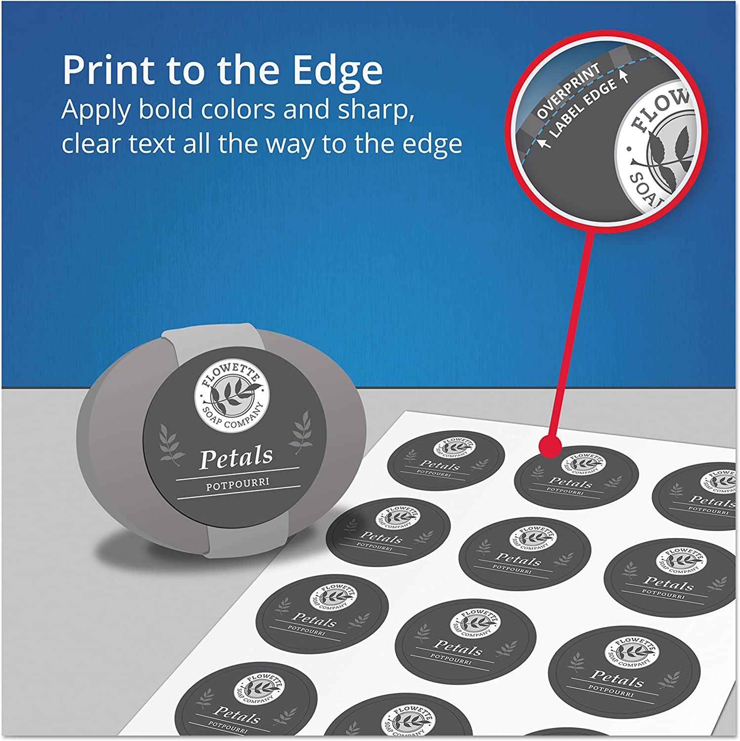 """Avery 22822 Rectangle Labels with Sure Feed, Laser & Inkjet Printers, 2"""" x 3"""", 80 Glossy Crystal Clear Labels : All Purpose Labels : Office Products"""