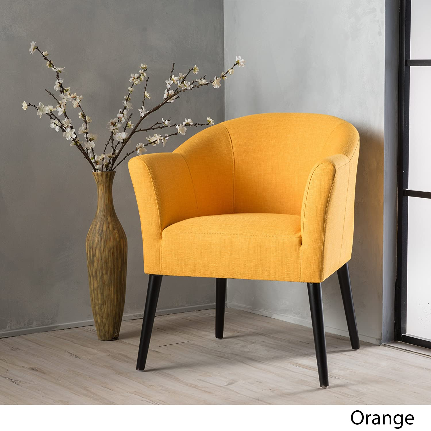 Charmaine | Fabric Accent Chair | in Orange